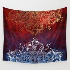 Mandala - Fire & Ice Wall Tapestry