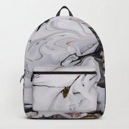 Elegant dark swirls of marble Backpack