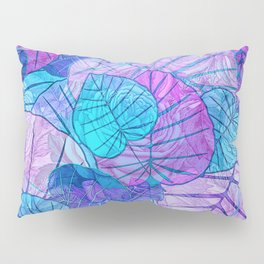 Leaves in Rosy Background Pillow Sham