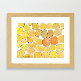 Cheerful orange Gathering Framed Art Print