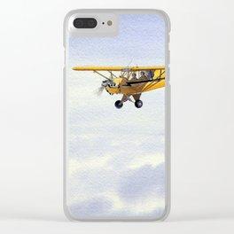 J-3 Piper Cub Aircraft Clear iPhone Case