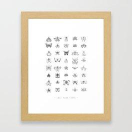Love your shape Framed Art Print