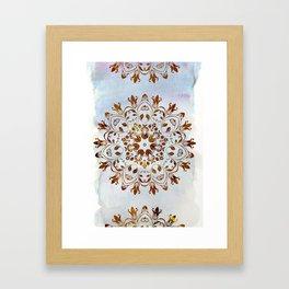 golden mandala design Framed Art Print