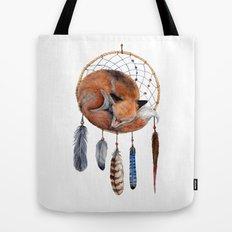 Fox Dreamcatcher Tote Bag
