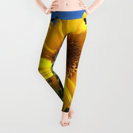 Bee on sunflower Leggings