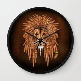 Rasta Lion Dreadlock iPhone 4 5 6 7, ipod, ipad, pillow case and tshirt Wall Clock