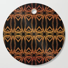 Brown And Gold Spider Web Cutting Board