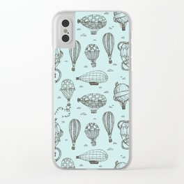 Hot Air Balloons Clear iPhone Case