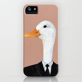 Duck In Suit iPhone Case