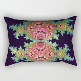 Amazing patterns in orbs and dragon spirals Rectangular Pillow
