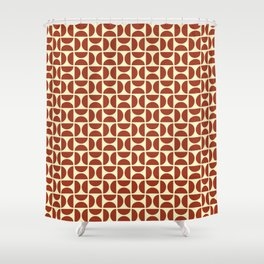 HALF-CIRCLES, RED Shower Curtain