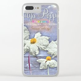 Poppies Rendezvous Clear iPhone Case
