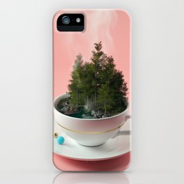 Hot cup of tree iPhone Case