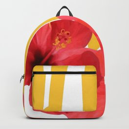 Hawaii Text With Aloha Hibiscus Garland Backpack