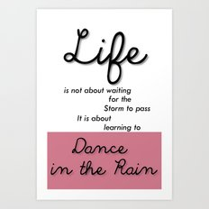 Inspirational Quotes Art Print
