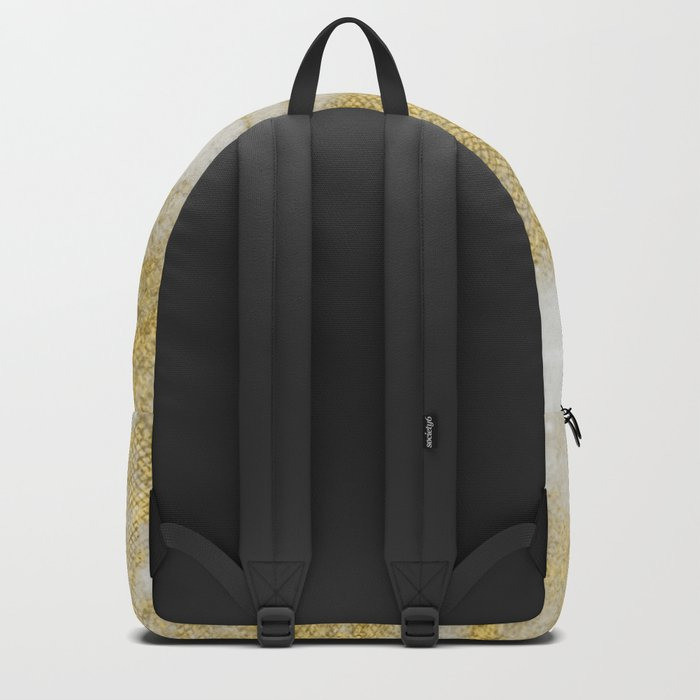 Marble - Glittery Gold Marble and White Pattern Backpack