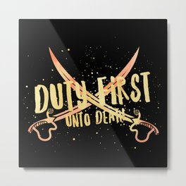 duty first - an ember Metal Print