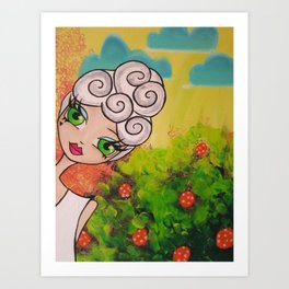 Garden Party Gal #1 Art Print