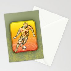 Soccer player Stationery Cards