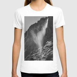 The Ghost. Lauterbrunnen Waterfalls. Alps. Switzerland. Bw T-shirt