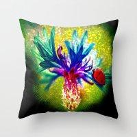 ladybug Throw Pillows featuring ladybug by haroulita