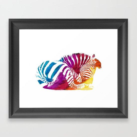 CEBRA Framed Art Print