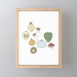 Vegetables (color) Framed Mini Art Print