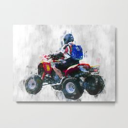 Quad racing Metal Print