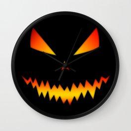 Cool scary Jack O'Lantern Halloween Wall Clock