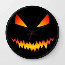 Cool scary Jack O'Lantern Halloween Wall Clock