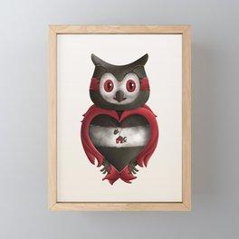 Xavier the Owl Framed Mini Art Print