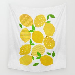 Lemon Crowd Wall Tapestry