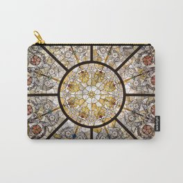 Stained glass window glass ceiling Carry-All Pouch