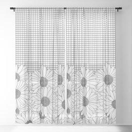 Daisy Grid Sheer Curtain