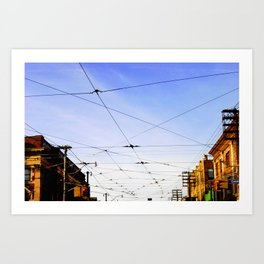 Queen Street Grid Art Print