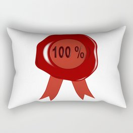 Wax Stamp 100 Percent Rectangular Pillow