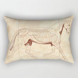 Da Vinci Horse: The Trot Revealed Rectangular Pillow