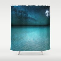 Night Swimming Shower Curtain