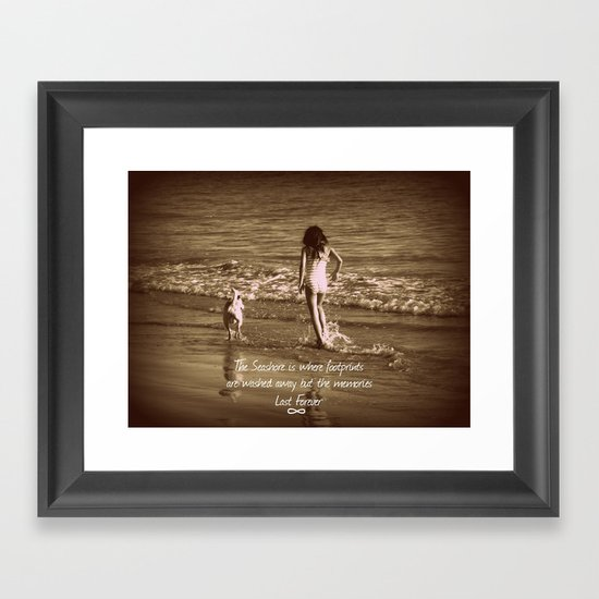 Seashore Memories Framed Art Print