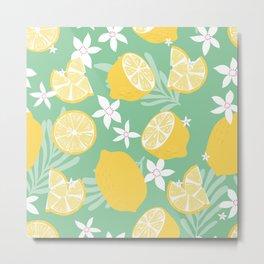 Lemon Pattern 09 Metal Print