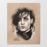 edward scissorhands Canvas Prints featuring Edward Scissorhands by Stephanie Nuzzolilo