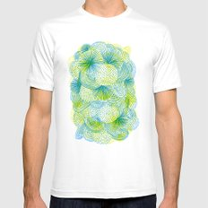 Space lime Mens Fitted Tee White MEDIUM