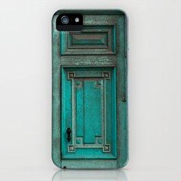 Green Door in Havana Cuba iPhone Case