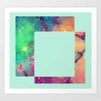 decal Art Prints featuring Space Decal by artii