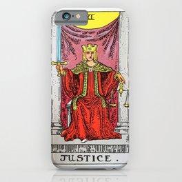 Justice Tarot iPhone Case