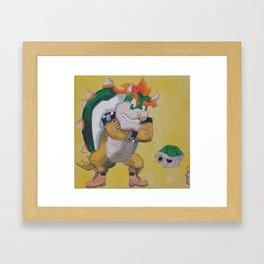"King ""Timbs"" Koopa Framed Art Print"