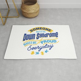 Down Syndrome Awareness Support Trisomy 21 Gift Rug