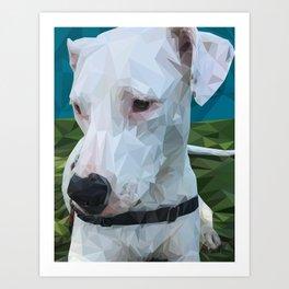 Rocky Dog Art Print