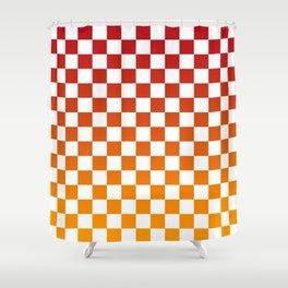 Chessboard Gradient Shower Curtain