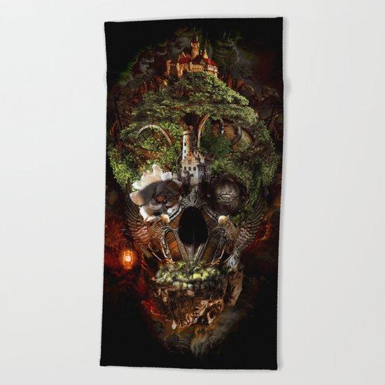 Skull Castle Beach Towel